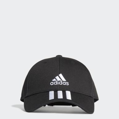 เทรนนิง สีดำ หมวกแก๊ปผ้าทวิล Baseball 3-Stripes
