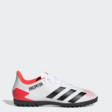 ผู้ชาย ฟุตบอล สีขาว รองเท้าฟุตบอล Predator 20.4 Turf