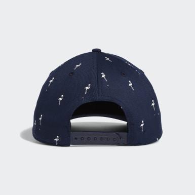 ผู้ชาย กอล์ฟ สีน้ำเงิน หมวกกอล์ฟพิมพ์ลายนกฟลามิงโก้