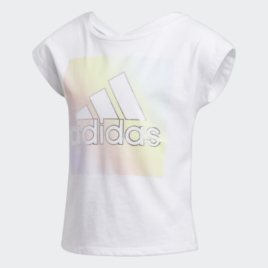 Children Training White V-Back Tee