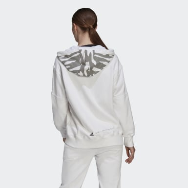 Women adidas by Stella McCartney White adidas by Stella McCartney Sportswear Hooded Sweatshirt