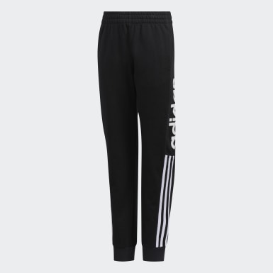 Youth Training Black Linear Logo Joggers