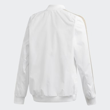 Real Madrid Anthem Jacket Bialy