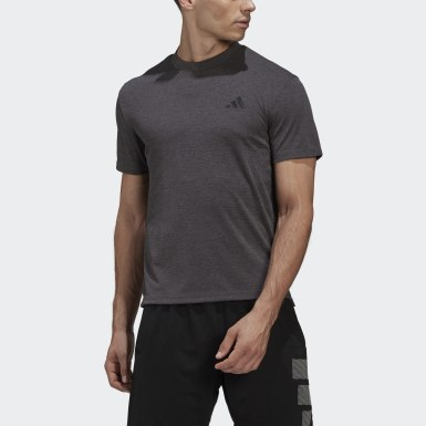 Men Yoga Black Three-Bar Tech Tee
