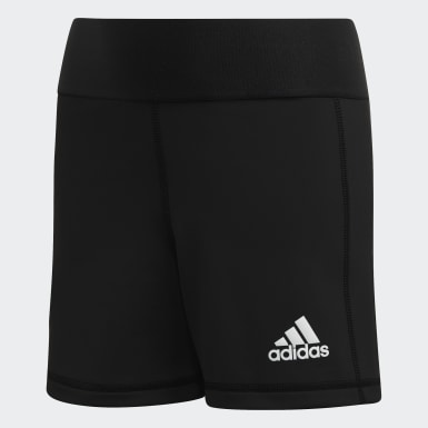 Children Volleyball Black Alphaskin Volleyball Shorts