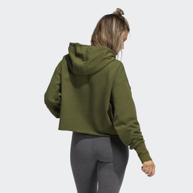 Women's Athletics Green Hooded Sweatshirt