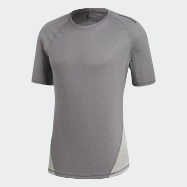 Men Field Hockey Grey Alphaskin Sport Heather T-Shirt