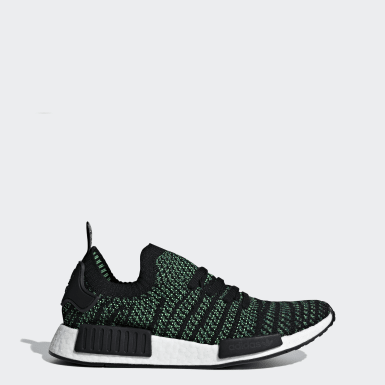Men Originals Black NMD_R1 STLT Primeknit Shoes