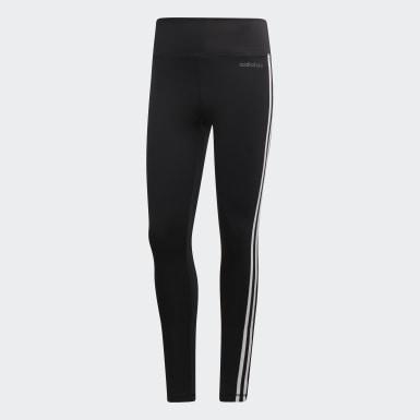 Calzas Largas con Cintura Alta Design 2 Move 3 Tiras Negro Mujer Training