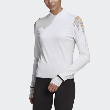 Frauen Yoga COLD.RDY Prime Training Longsleeve Weiß
