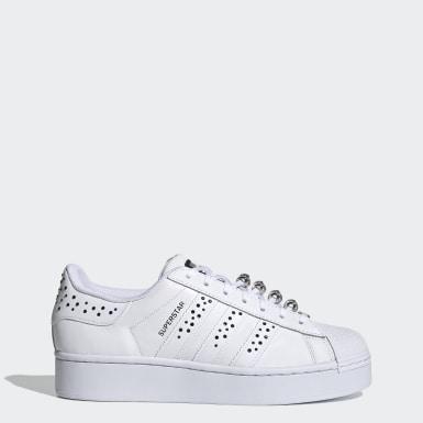 Women Originals White Swarovski Superstar Bold Shoes