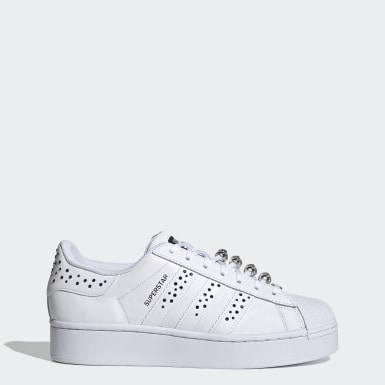 Women Originals White Swarovski Superstar Bold Shoes