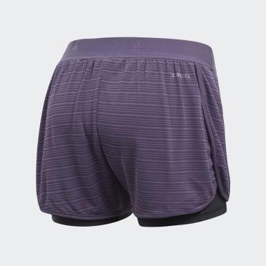 Shorts Dos-en-Uno Chill Violeta Mujer Training