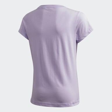 T-shirt Essentials Linear Violet Filles Athletics