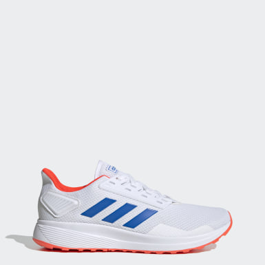 Men Running White Duramo 9 Shoes