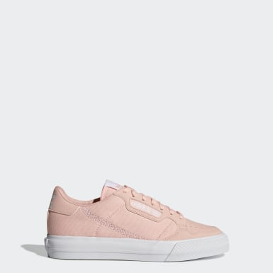 Youth 8-16 Years Originals Pink Continental Vulc Shoes