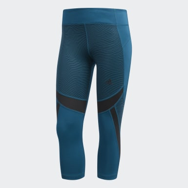 Mallas 3/4 Design 2 Move Mid Rise Optic Stripe - Corte Medio Verde Mujer Training