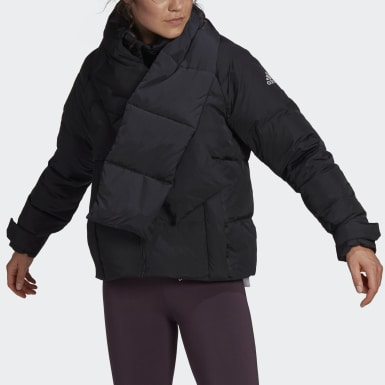 Women Outdoor Black Glam On Puffer Down Jacket