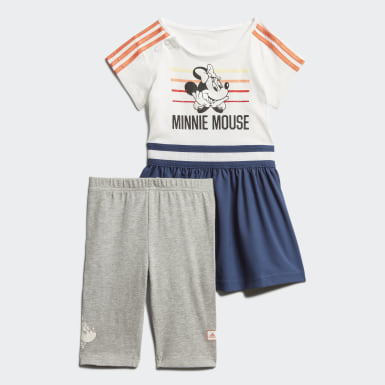 Kids Training White Minnie Mouse Summer Set