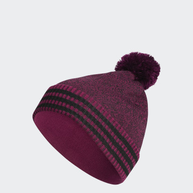Men Golf Purple Golf Statement Beanie