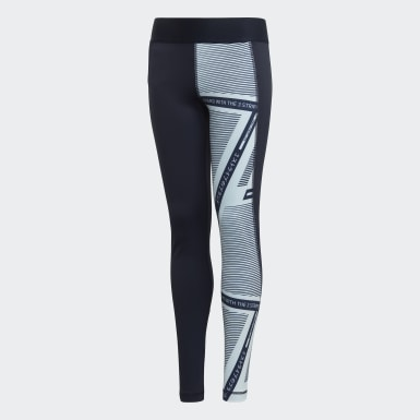 Youth 8-16 Years Yoga Blue Alphaskin Leggings