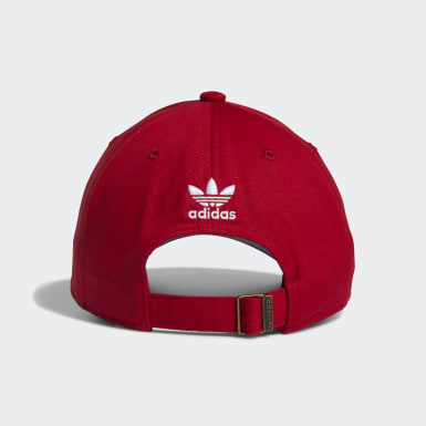 Men Originals Red Relaxed Strap-Back Hat