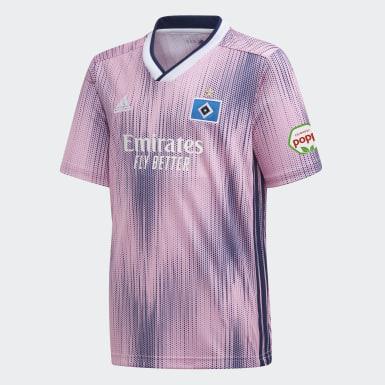 Jungen Fußball Hamburger SV Auswärtstrikot Rosa