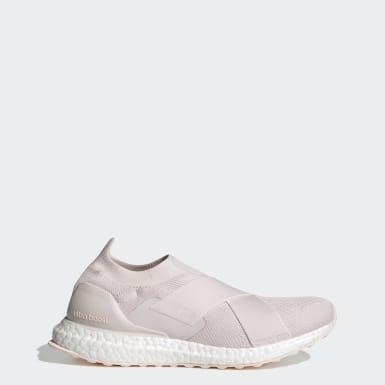 Sapatos Ultraboost Slip-On DNA Rosa Mulher Running