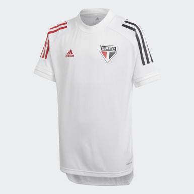 Camisa Treino São Paulo FC Branco Kids Futebol