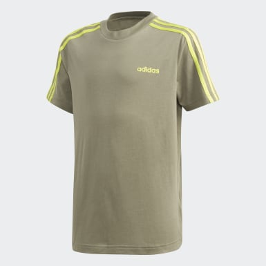 Playera Essentials 3 Franjas Verde Niño Training