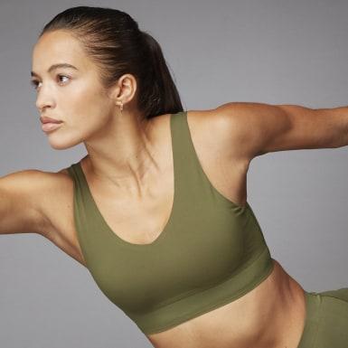 Frauen Training Cozy Yoga Sport-BH Grün