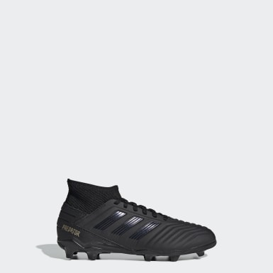 Children Football Black Predator 19.3 Firm Ground Boots