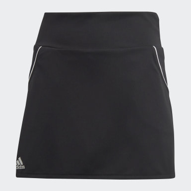 Girls Padel Tennis Black Club Skirt