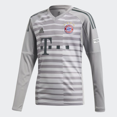 Kids Football Grey FC Bayern Goalkeeper Jersey