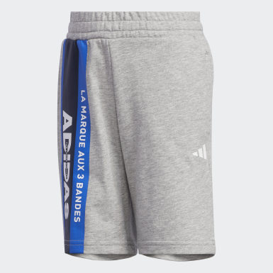 Pantalón corto Knit Gris Niño Athletics