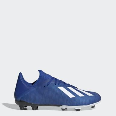 Botines X 19.3 Terreno Firme Azul Hombre Fútbol