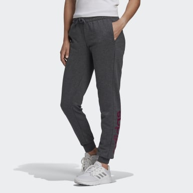 Women Athletics Grey Essentials Linear Joggers