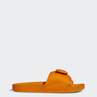 Heren Originals Oranje Pharrell Williams Boost Slippers