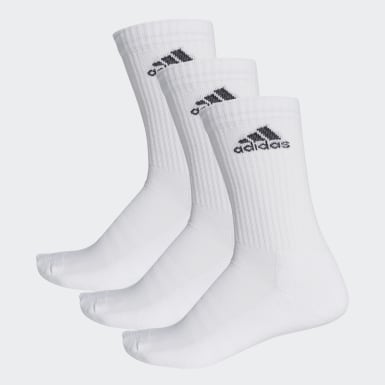 Calcetines 3 Franjas Performance Crew (UNISEX) Blanco Training