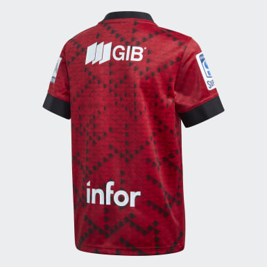 Boys Rugby Red Crusaders Home Jersey