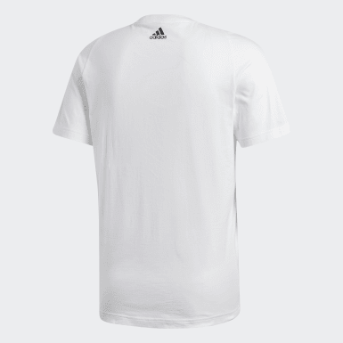 Men Athletics White Essentials Linear Tee