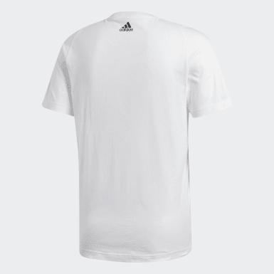 Heren Athletics Wit Essentials T-shirt