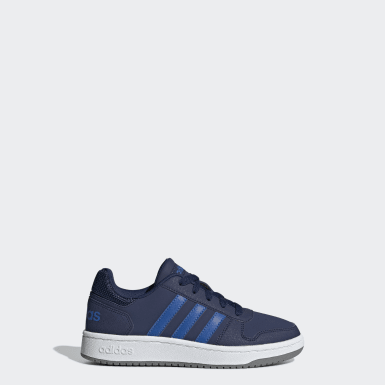 Kids Sport Inspired Blue Hoops 2.0 Shoes