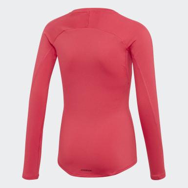 Girls Training Pink Alphaskin Warm AEROREADY Warming Long-Sleeve Top