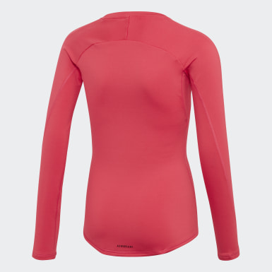 Girls Träning Rosa Alphaskin Warm AEROREADY Warming Tee