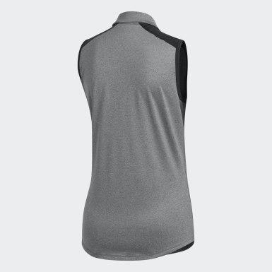 Women Golf Black Ultimate365 Sleeveless Polo Shirt