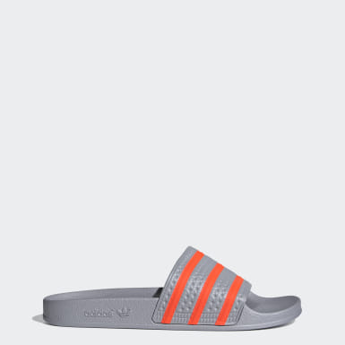 Heren Originals grijs adilette Badslippers
