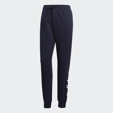 Dames Athletics Blauw Essentials Linear Broek