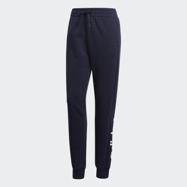 Dames Athletics blauw Essentials Linear Broek