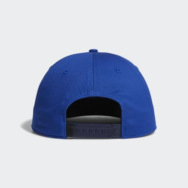 Men Golf Blue Printed Bill Hat